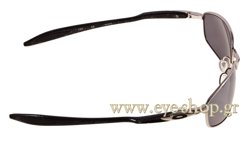 26f46c3e45 Oakley Blender Sunglasses Chrome   Silver Ghost Text Black Iridium ...
