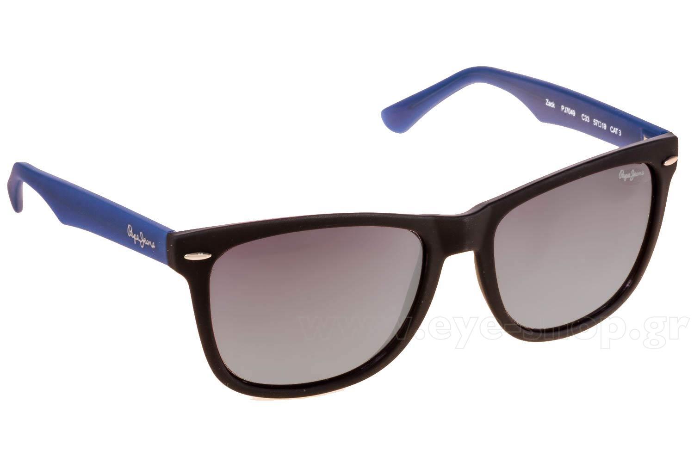 ΓυαλιάPepe JeansZack PJ7049C33 Matte Black Blue Temples