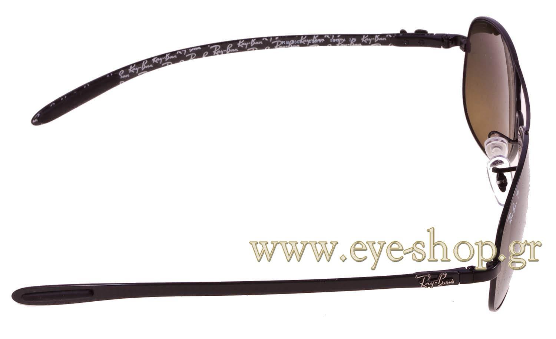 5ad4285f03 ΓΥΑΛΙΑ ΗΛΙΟΥ Rayban 8301 006 97 polarized carbon fiber